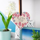 Wedding Personalised Wooden Heart Decoration - Olivia Morgan Ltd