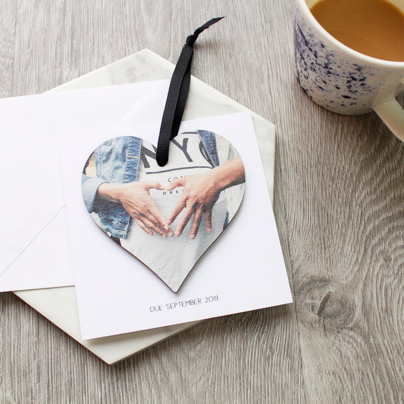 Baby Bump Pregnancy Heart And Card Gift - Olivia Morgan Ltd