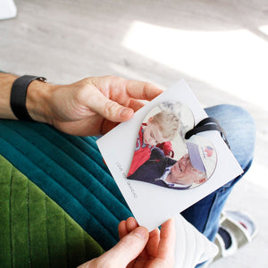 Grandad Photo Heart And Personalised Card Gift - Olivia Morgan Ltd