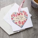 Teacher thank You Removable Heart And Card - Olivia Morgan Ltd