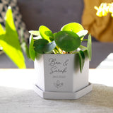 Anniversary Personalised Hexagon Plant Pot - Olivia Morgan Ltd