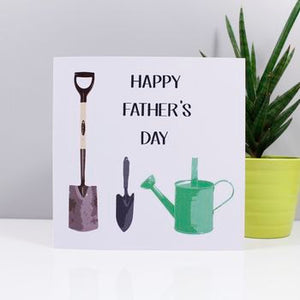 Happy Father's Day Gardening Theme Card - Olivia Morgan Ltd