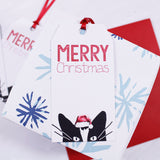 Cat Santa Hat Christmas Gift Tag - Olivia Morgan Ltd