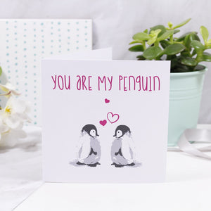 You Are My Penguin Anniversary Card - Olivia Morgan Ltd