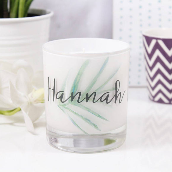 Botanical Personalised Scented Candle For Her - Olivia Morgan Ltd