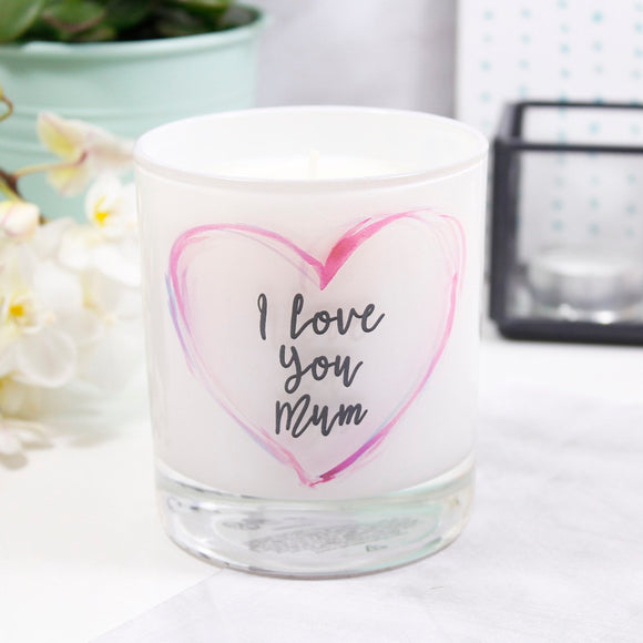 I Love You Mum Scented Mother's Day Candle - Olivia Morgan Ltd