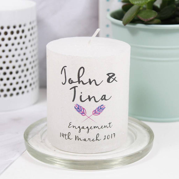 Engagement Motif Personalised Metallic Candle - Olivia Morgan Ltd