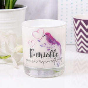 You Are My Everything Tropical Personalised Scented Candle - Olivia Morgan Ltd