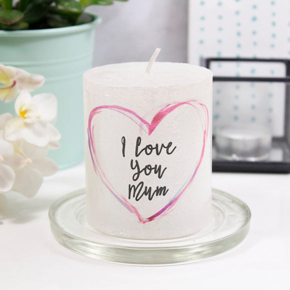 I Love You Mum Metallic Mother's Day Candle - Olivia Morgan Ltd