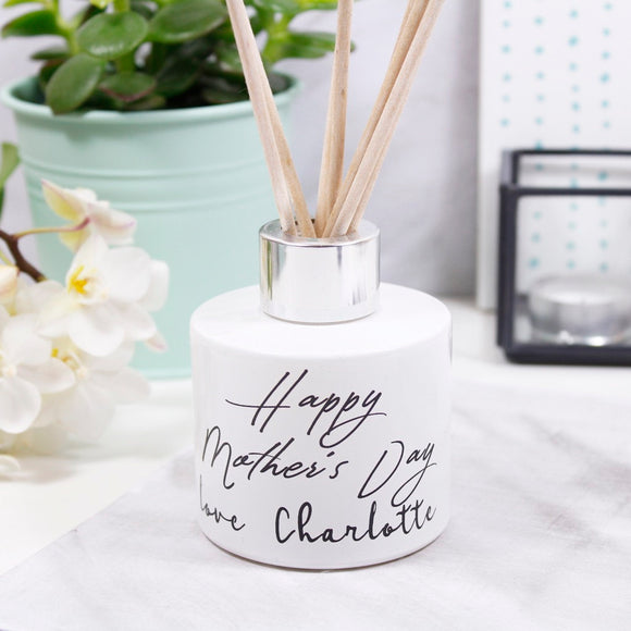 Typography Personalised Mother's Day Diffuser - Olivia Morgan Ltd