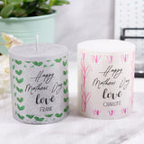 First Mother's Day Patterned Personalised Metallic Candle - Olivia Morgan Ltd