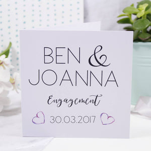Typography Engagement Card - Olivia Morgan Ltd