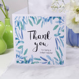 Teacher Thank You Patterned Card - Olivia Morgan Ltd