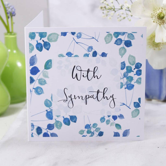 With Sympathy Card - Olivia Morgan Ltd