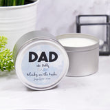 Dad Scented Soya Wax Tin Personalised Candle - Olivia Morgan Ltd