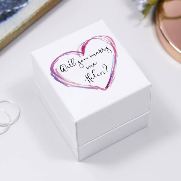 Proposal Will You Marry Me Jewellery Ring Box - Olivia Morgan Ltd