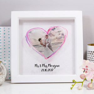 Wedding Photo Anniversary Glittery Personalised Print - Olivia Morgan Ltd