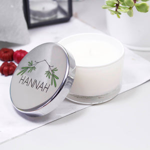 Scented Mini Personalised Christmas Candle - Olivia Morgan Ltd