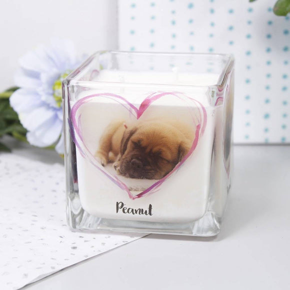 Pet Photo Personalised Scented Candle - Olivia Morgan Ltd