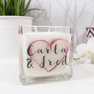 Anniversary Personalised Scented Candle - Olivia Morgan Ltd