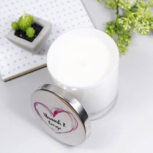 Scented Luxury Personalised Anniversary Candle With Lid - Olivia Morgan Ltd