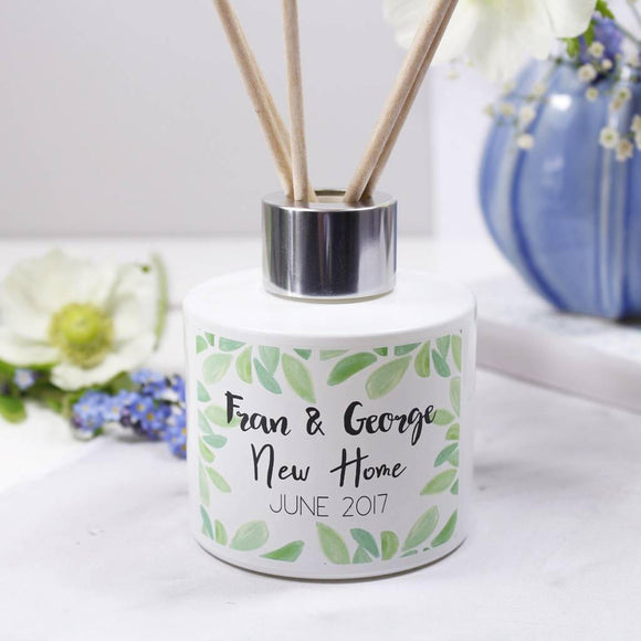 New Home Personalised Reed Diffuser Gift Set - Olivia Morgan Ltd