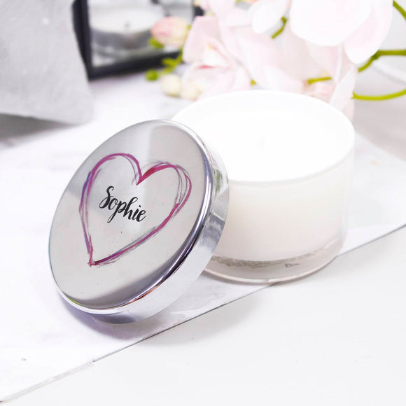 Scented Personalised Travel Candle For Her - Olivia Morgan Ltd