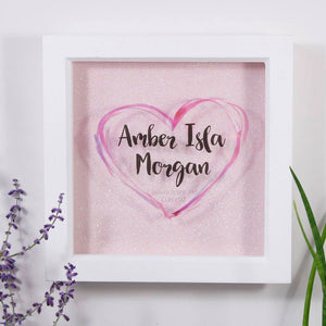 New Baby Personalised Frame For Boys And Girls - Olivia Morgan Ltd