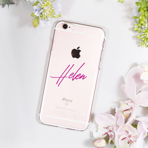 Typography Personalised iPhone Case For Her - Olivia Morgan Ltd