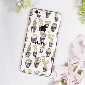 Cacti Personalised iPhone Case - Olivia Morgan Ltd