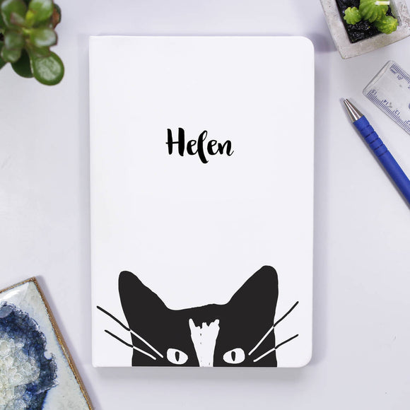 Cat Personalised Notebook For Her - Olivia Morgan Ltd