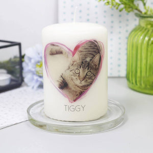 Pet Photo Personalised Candle - Olivia Morgan Ltd