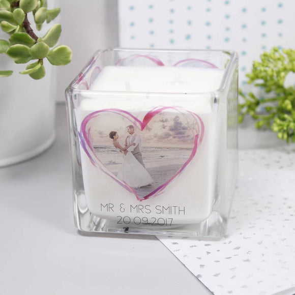 Wedding Photo Personalised Scented Candle - Olivia Morgan Ltd