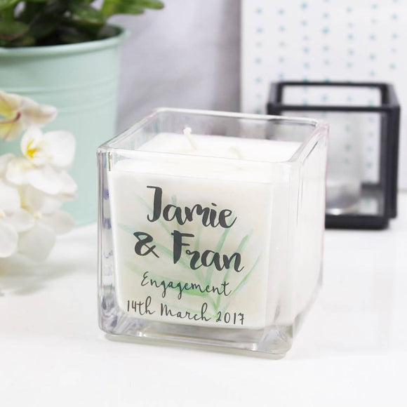 Engagement Personalised Scented Candle Gift - Olivia Morgan Ltd