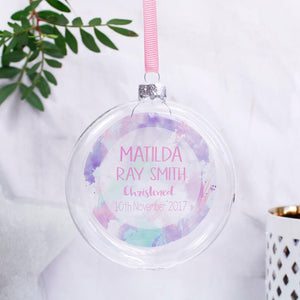Christening Personalised Bauble For Boys And Girls - Olivia Morgan Ltd