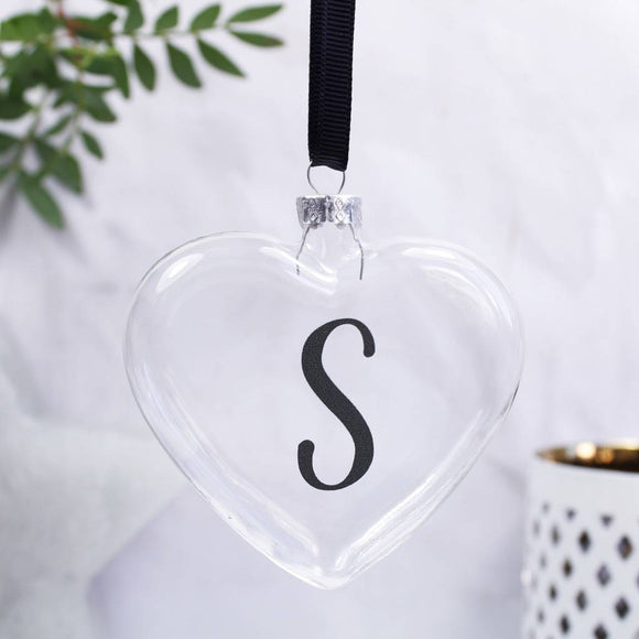 Initial Heart Personalised Bauble - Olivia Morgan Ltd