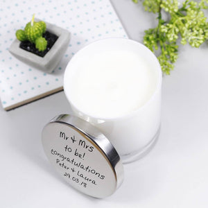 Scented Engagement Personalised Candle With Lid - Olivia Morgan Ltd