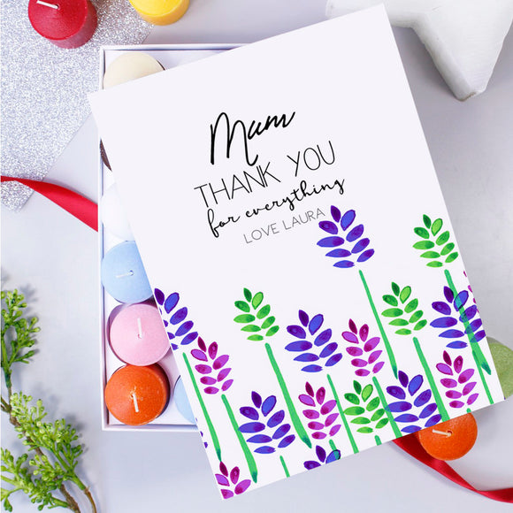 Thank You Mum Box Of Candles - Olivia Morgan Ltd