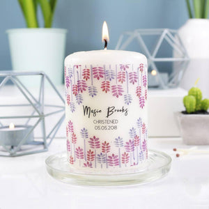 Christening Personalised Candle Keepsake Gift - Olivia Morgan Ltd