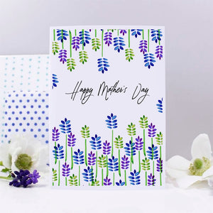 Happy Mother's Day Patterned Card - Olivia Morgan Ltd