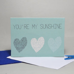 You're My Sunshine Anniversary Card - Olivia Morgan Ltd