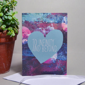 To Infinity and Beyond Heart Card - Olivia Morgan Ltd