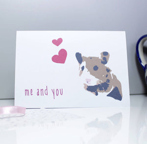 Hamster Me And You Anniversary Card - Olivia Morgan Ltd