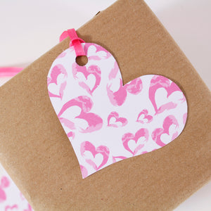 Heart Pattern Gift Tag - Olivia Morgan Ltd