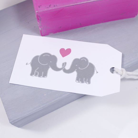 Elephant Love Gift Tag - Olivia Morgan Ltd