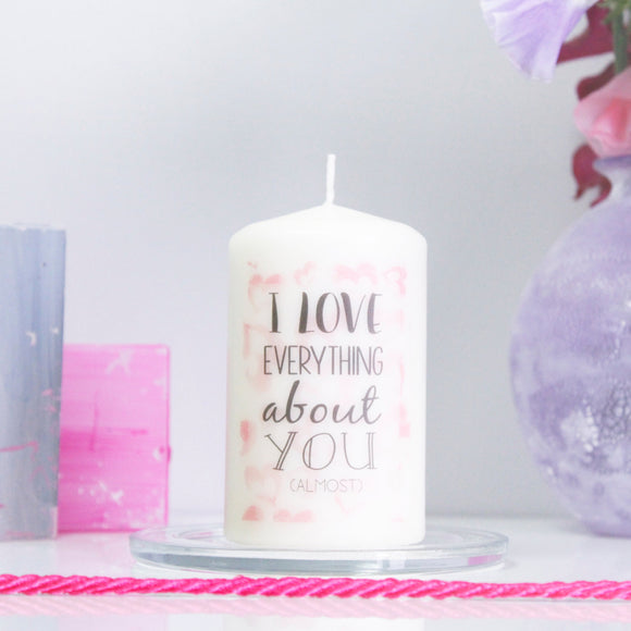 I Love You Quote Personalised Candle - Olivia Morgan Ltd
