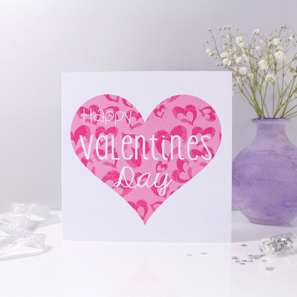 Happy Valentine's Day Heart Card - Olivia Morgan Ltd
