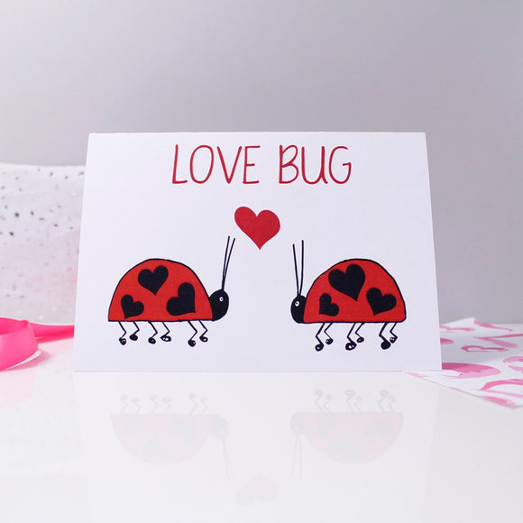 Love Bug Ladybird Anniversary Card - Olivia Morgan Ltd