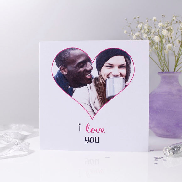 Photo Heart Anniversary Personalised Card - Olivia Morgan Ltd