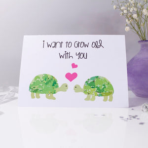 I Want To Grow Old With You Tortoise Card - Olivia Morgan Ltd